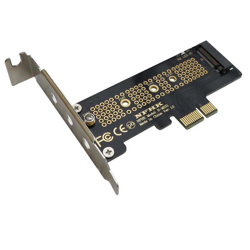 NVMe PCIe M.2 NGFF SSD do PCIe x1 karta adaptera PCIe x1 do M.2 karty z uchwytem PCI-E M.2 Adapter dla 2230 2240 2260 2280 SSD M2