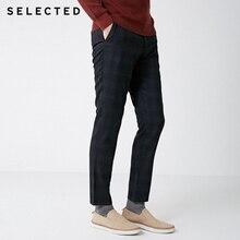 SELECTED Winter Slim Fit Plaid Pants S