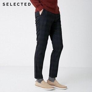 Image 1 - SELECTED Winter Slim Fit Plaid Pants S