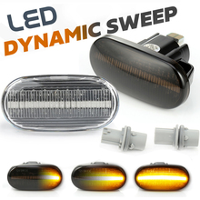 2Pcs Dynamic LED Car Side Marker Lamp Repeater Turn Signal Light for Honda Civic Prelude Acura Del Sol Integra S2000 CRX Fit