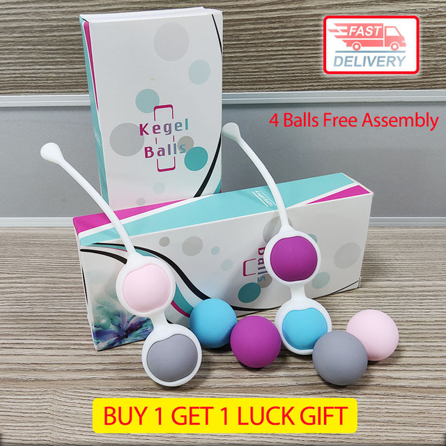 4 Balls Free assembly sex balls kegel Vagina Tight Exercise Sex Toy for Woman Comfortable Silicone vaginal Trainer geisha ball