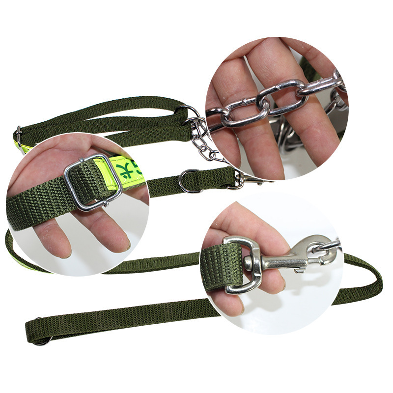 Pet Supplies Large Dog Army Green Double Layer Haulage Rope Package Dog Traction