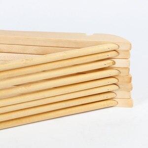 Image 3 - 10pcs עץ מלא קולב החלקה קולבי בגדי קולבי חולצות סוודרים שמלת קולב ייבוש מתלה לבית