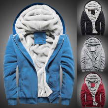 Мужская толстовка с капюшоном, зимний теплый флисовый свитер на молнии, куртка, верхняя одежда, пальто, бархатная бейсбольная форма, спортивная куртка