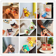For Airpods 2 1 Case Silicone Stitch Cartoon Cover For Apple Airpods Case Cute Earphone 3D Headphone