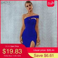 Adyce White Blue Bodycon Bandage Dress Women 2020 Summer Sexy Elegant Black One Shoulder Strapless Celebrity Runway Party Dress