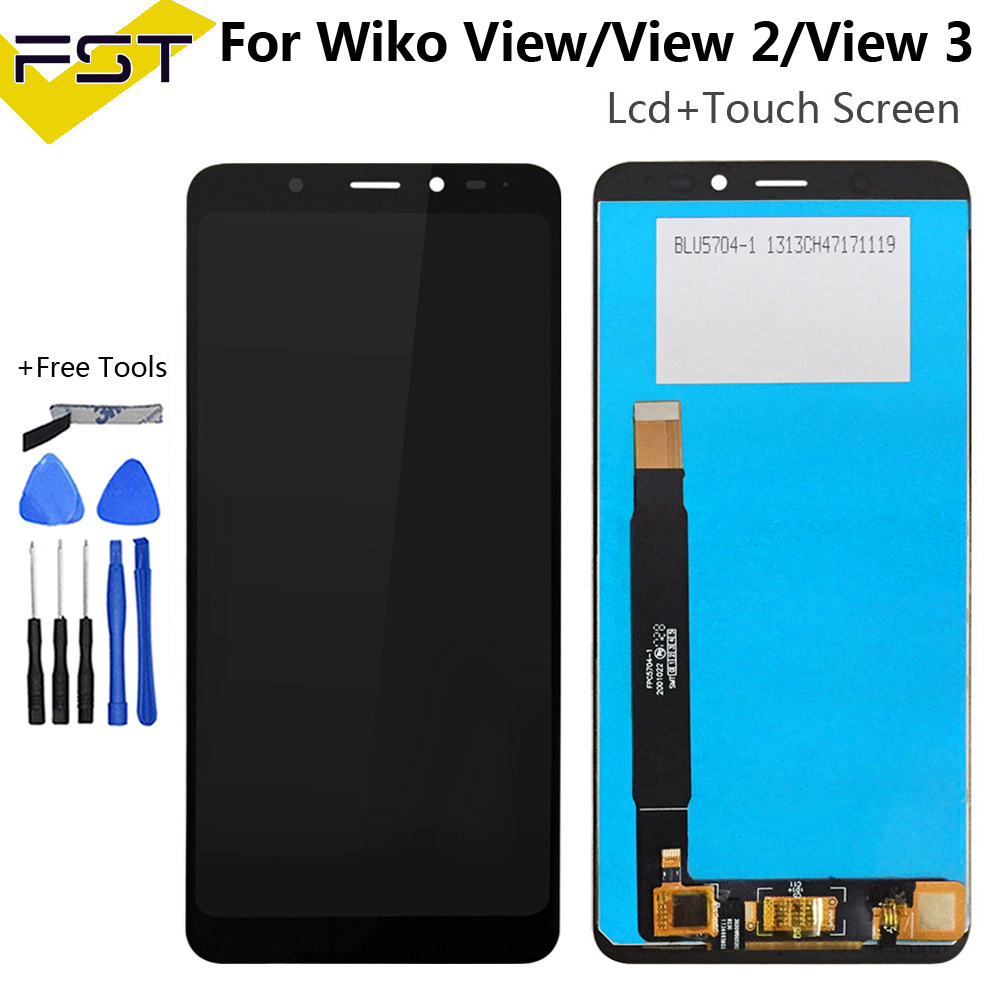 For wiko view / View 2 / View 3 LCD Display+Touch Screen Digitizer Assembly Mobile Phone Accessories With Tool And Adhesive