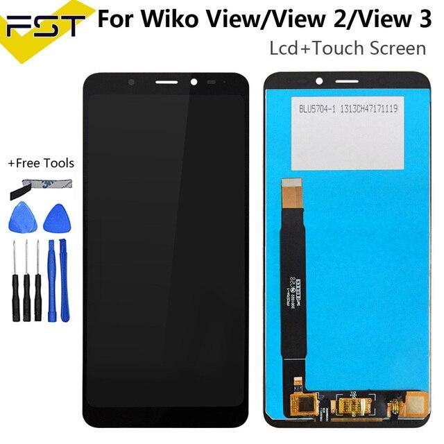 Wiko보기/보기 2/보기 3 lcd 디스플레이 + 터치 스크린 디지타이저 어셈블리 도구 및 접착제와 휴대 전화 액세서리