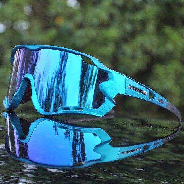 4 lente uv400 ciclismo óculos de sol polarizados ciclismo óculos para óculos de bicicleta óculos de ciclismo lentes do esporte 5
