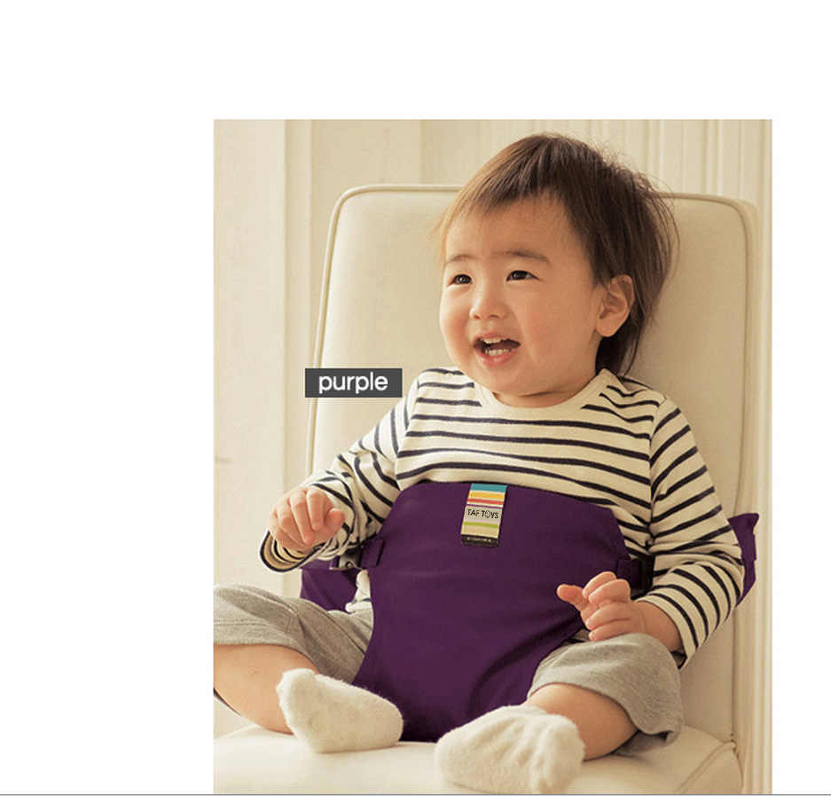Baby Dining Chair Safety Belt Portable Seat Lunch Chair Seat  baby Booster Seat  Stretch Wrap Feeding  Harness  Booster Seat