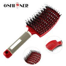 ユニセックスヘアケアシリーズの女性ウェット櫛のためのヘアブラシマッサージくしブラシ髪の美容師理髪ツール
