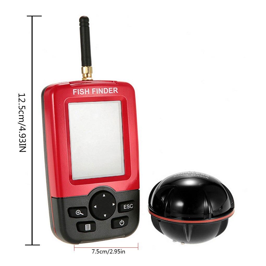 Портативный глубинный рыболокатор беспроводной звуковой датчик эхолот пресная вода морская вода эхолот