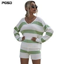Осенне зимняя женская одежда pgsd белые и зеленые свитера костюм