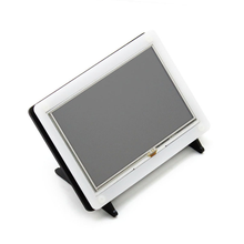 Waveshare 5inch HDMI LCD (B) with Bicolor Case 800*480 Resistive Touch Screen Supports Raspberry Pi Banana Pi BB Black