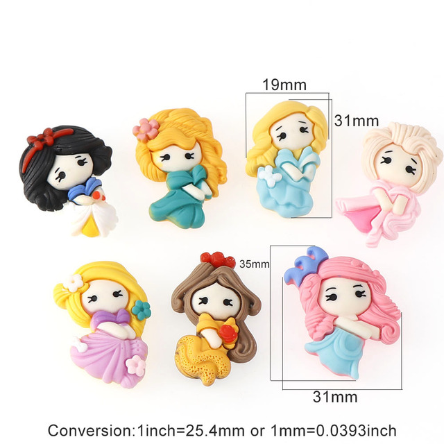 20pcs/lot Mix Kawaii Girl Resin Cabochons Accessories For Hair Clothing Shoes Planar Resin DIY Home Decoration 4
