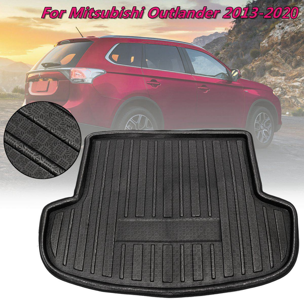 Rear Trunk Liner Boot Mat Cargo Tray Floor Carpet For Mitsubishi Outlander 2013 2014 2015 2016 2017 2018 2019 2020 1piece
