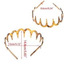 Ободок с длинными зубьями зигзаг для женщин и девочек пластиковая