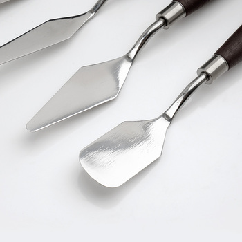 Arrtx 5 個混合ステンレス鋼パレットスクレーパーセットへらナイフアーティストキャンバスオイル塗装色混合 -