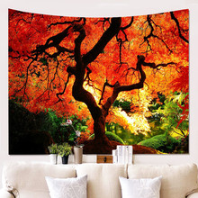 Colorful Tree Tapestry macrame Wall Hanging Psychedelic Forest Wall Hanging Tapestry Wall Art Decor Tablecloth Beach towel christmas tree fireplace print tapestry wall hanging art