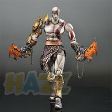 Play Arts Kai God of War Kratos PVC Figure Statue Toy Collection 23cm New in Box 26cm wolverine figure logan x men x men play arts kai wolverine james logan howlett play art kai pvc action figure