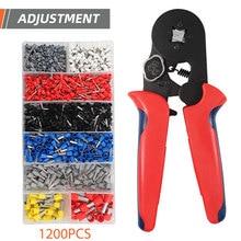 цена на NEW HSC8 6-4+ 1200 self-adjusting Terminal Crimping Pliers Wire Stripper Crimper Ferrule crimping tool Pliers Set Terminals Kit