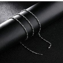 Cyue moda europeia único 316l aço inoxidável 55cm corrente colar para mulher jóias masculinas