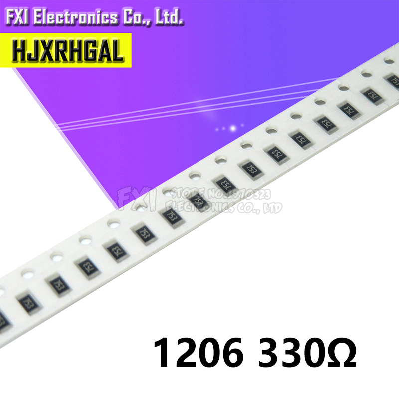 100PCS 1206 SMD Resistor  330 Ohm Chip Resistor 0.25W 1/4W 330R 331 New Original