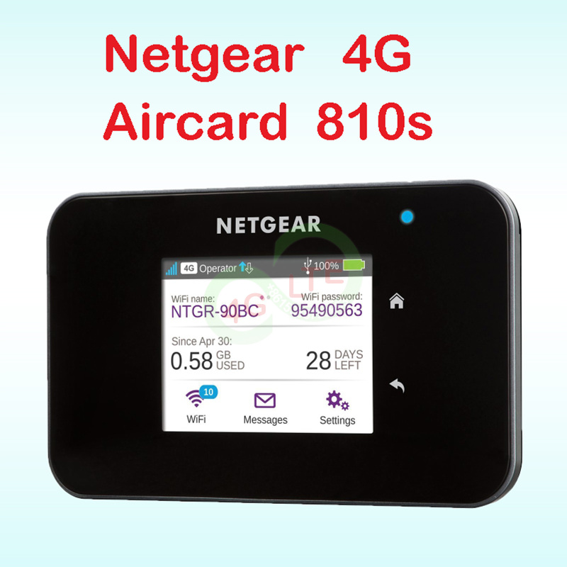 Unlocked Netgear Ac810 4g Router Wi-fi 4g Wifi Dongle Lte Wireless Aircard 810S  LTE Wifi Router Netgear Aircard 810s Sim Card