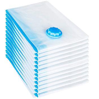 12 pces conjunto saco de vácuo 60x40 cm saco de armazenamento saco de vácuo