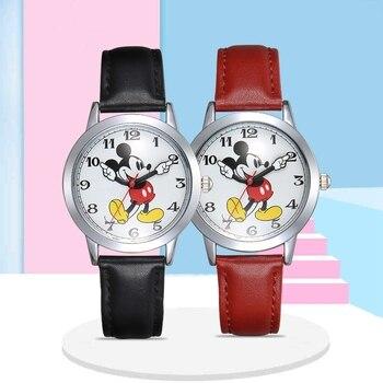 Big Sale Mickey Mouse Watch Children Strap Quartz Watches Boy Girl Birthday Gift Student Clock Young Men Women Kids Happy Time - discount item  90% OFF Children's Watches