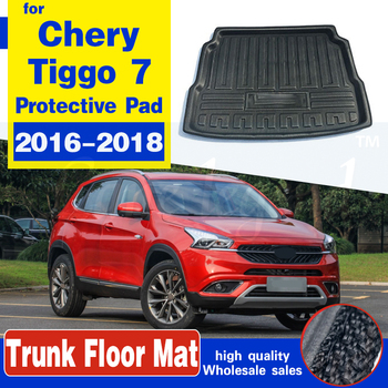 For Chery Tiggo 7 2016 2017 2018 Car Boot Cargo Liner Rear Trunk Floor Mat Tray Carpet Mud Protector Waterproof Non-slip Pad for lada largus 2012 2018 trunk mat floor rugs non slip polyurethane dirt protection interior trunk car styling