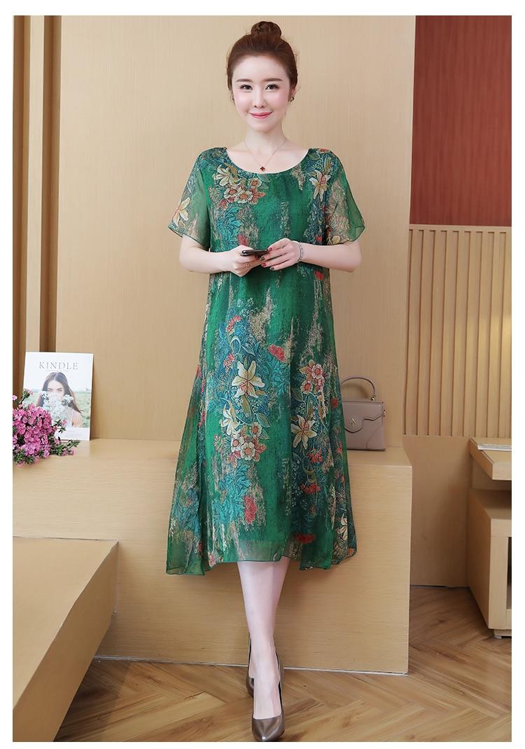 NYFS 2021 New Summer dress Loose dresses for women Vestidos Robe Elbise Fashion Printing Woman dress L-5XL 7
