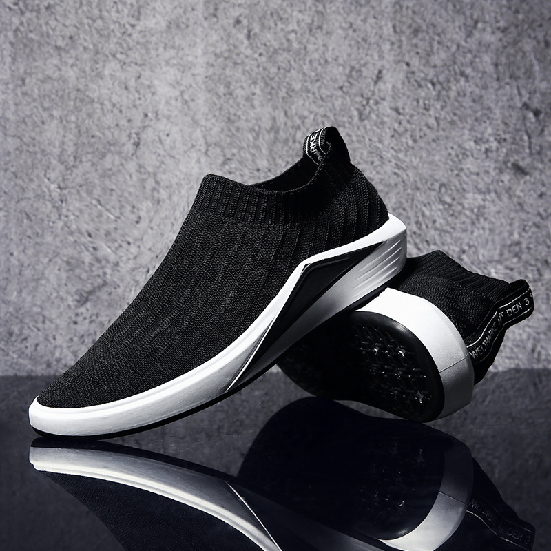Men Slip on Shoes Trainers Superstar Male Gym Walking Footwear easy boost Tennis Without Laces Red Black Teenagers Sneakers in Men 39 s Casual Shoes from Shoes