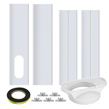 10pcs Window Sealing Plate Kit Adjustable Length Ventilation Kit Window Adaptor For Mobile Air Conditioner Window Slide Brightly