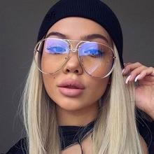New Fashion Pilot Sunglasses Women Oversized Luxury Sun Glas