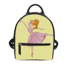 Custom patterns Women's luxury backpacks Ballet girl Print Bagpack Casual Anti Theft Backpack for ladies travel backpack