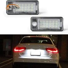 2 uds. De luz de placa de matrícula para Audi A3 S3 A4 S4 B6 A4 S4 B7 A6 C6 S6 Q7 A8 S8 D3 RS4 RS6