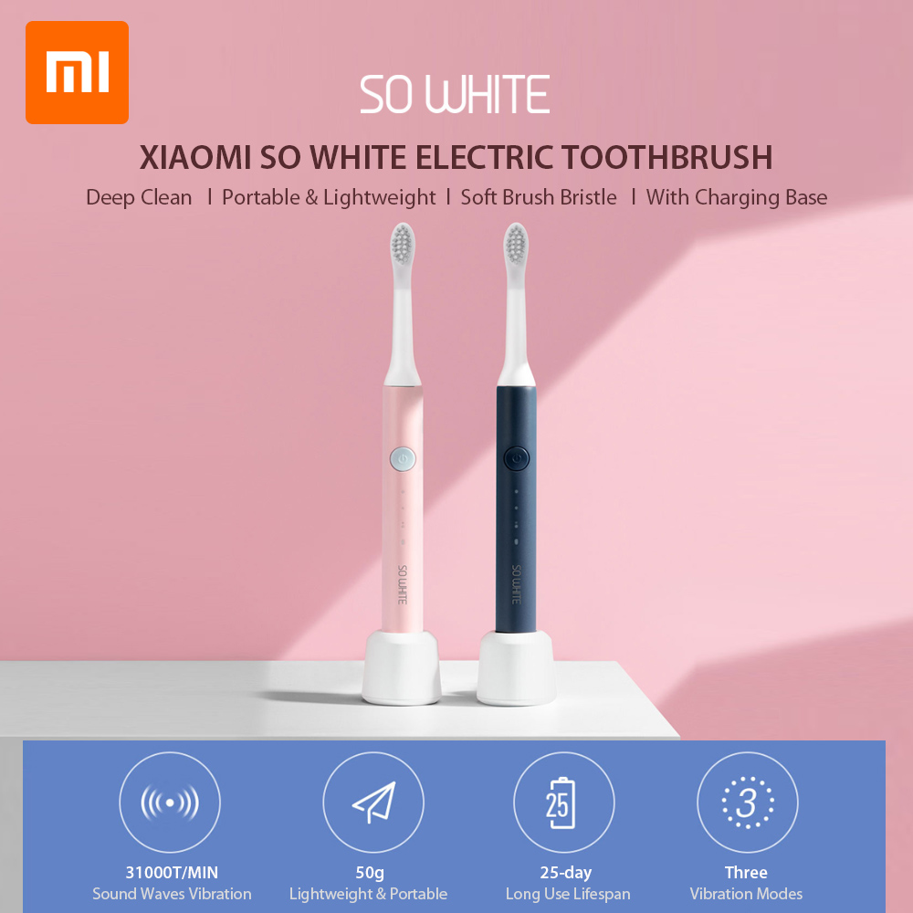 Xiaomi SO WHITE PINJING EX3 Sonic Toothbrush head for Xiaomi Mijia Ultrasonic Automatic Toothbrush head Waterproof image