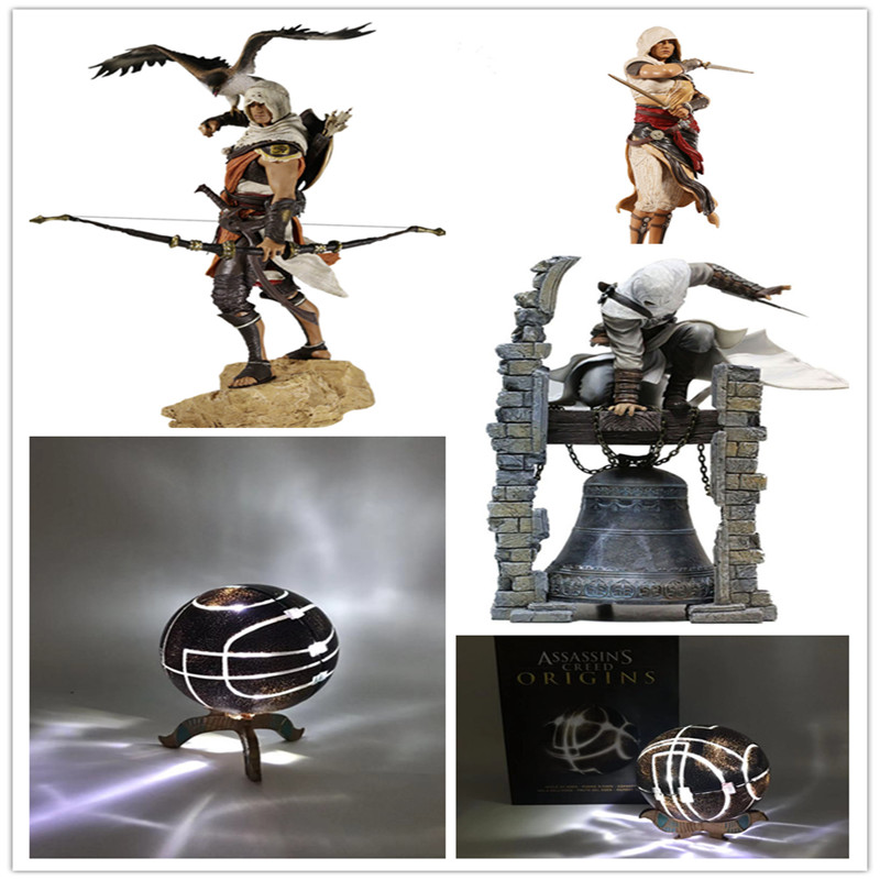 30cm Creed Originis Bayek Aya Altair The Legendary Assassin PVC Action Figure Collectible Model Toys Gifts