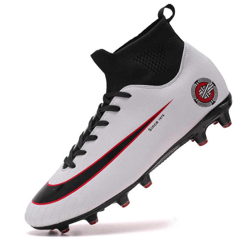 גברים בני כדורגל נעלי כדורגל מגפיים גבוה קרסול ילדים סוליות אימון ספורט סניקרס גודל 35-46 Dropshipping