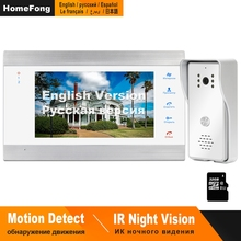HomeFong kablolu görüntülü kapı telefonu ev için destek hareket algılama kızılötesi gece görüş IP65 açık su geçirmez kapı interkom