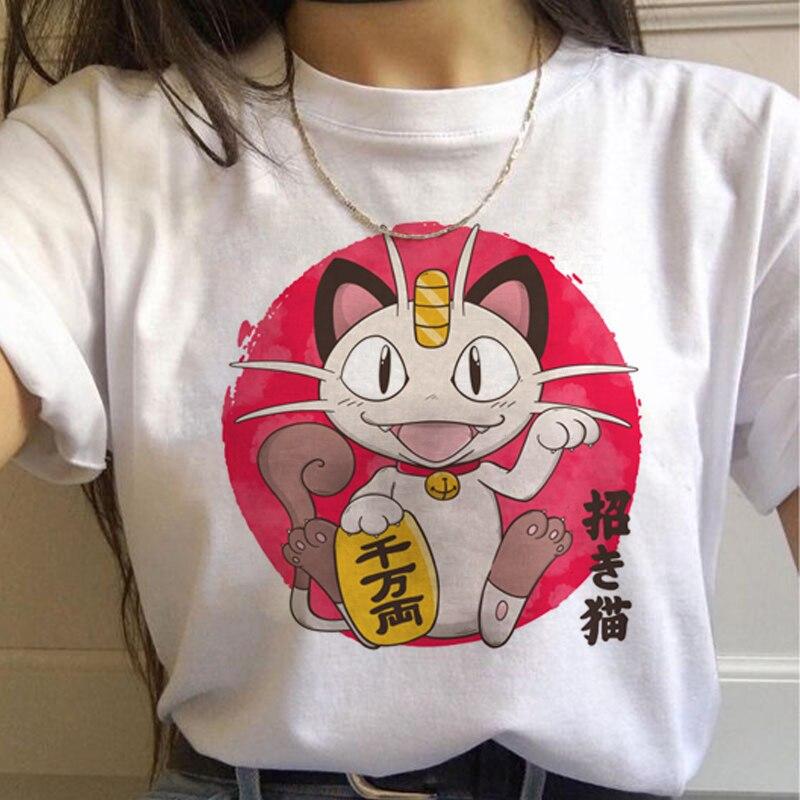 Harajuku T Shirts Women Kawaii Funny Cartoon T-shirt 90s Cute Print Tshirt Fashion Streetwear Top Tees Female 2