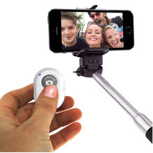 Selfie Stick para teléfono bluetooth Mini plegable inalámbrico monopié con control remoto Selfiestick para iPhone/Samsung para IOS/Android(China)