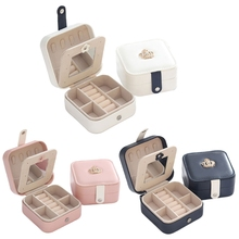 Portable Travel Leather Jewelry Organizer Display Earrings R