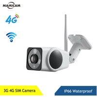 Güvenlik ve Koruma'ten Gözetim Kameraları'de Açık 3G 4G SIM kart kamera su geçirmez 1080P kablosuz IP WIFI bullet kamera iki yönlü ses p2p Onvif cctv gözetim