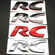 3d Металлическая Автомобильная наклейка RC эмблема наклейка задний багажник наклейка для Peugeot RC 206 207 208 308 408 508 5008 3008 4008 Стайлинг автомобиля