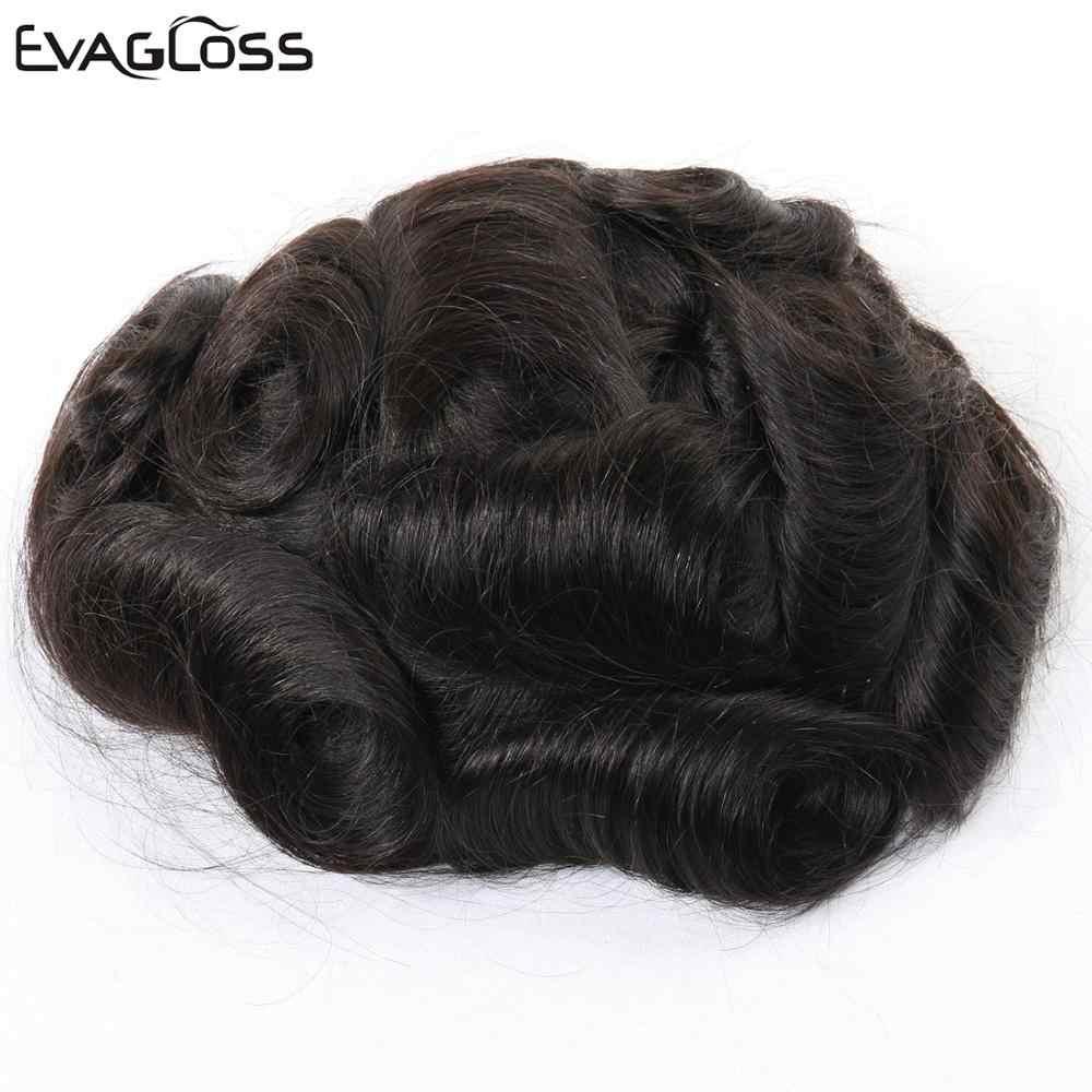 0.02-0.03mm Super cienkie skóry męski tupecik naturalny indyjski ludzki włos mężczyzna peruka proteza System włosów dla mężczyzn darmowa wysyłka