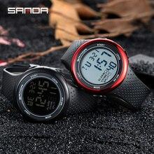 עמיד למים הדיגיטלי שעון מעורר גברים שעון תאריך שבוע תצוגת ספורט אלקטרוני שעונים Luminacence מצבי relogio masculino SANDA