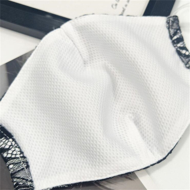 10pcs/lot Summer Korean women sexy lace mask female double-layer cotton thin breathable cold fabric dust-proof hanging ear mask 5