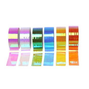 100% Brand New and High Quality Rhythmic Gymnastics Decoration Holographic RG Prismatic Glitter Tape Hoops Stick image